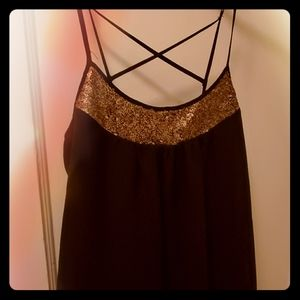 gorgeous sparkly gold and blank top